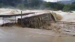 Le débit des rivières dans l'Aude en dit long sur la quantité d'eau tombée en une