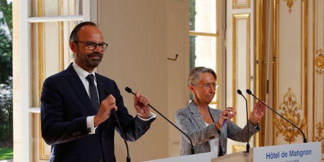 Edouard Philippe et Elisabeth Borne à Matignon lundi 7