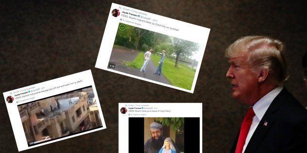 Les vidéos islamophobes retweetées par Donald Trump ne sont pas ce qu'il voudrait faire