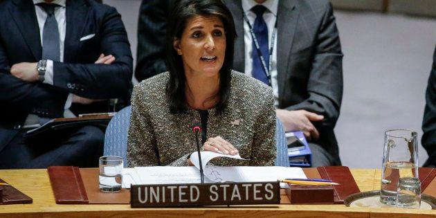 L'ambassadrice américaine à l'Onu Nikki Haley le 29 novembre