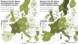 Les musulmans pourraient représenter jusqu'à 18% de la population en France d'ici