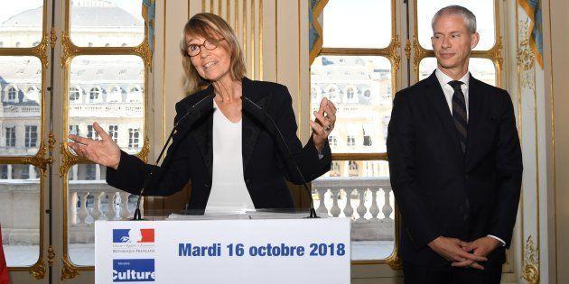 Françoise Nyssen a livré un dernier discours, ce mardi 16 octobre au ministère de la Culture devant son...