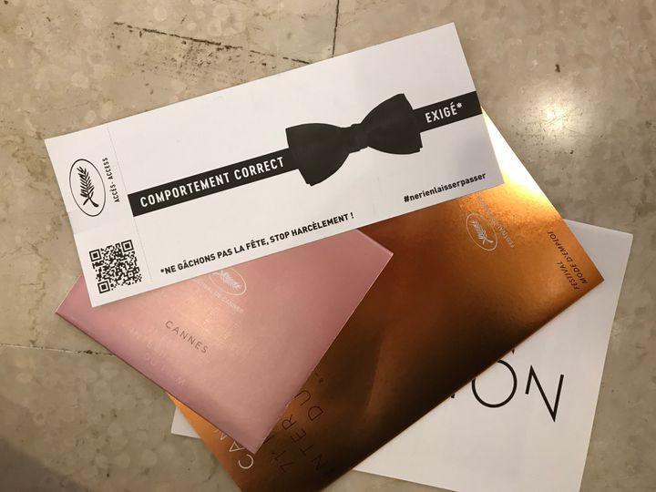 Le recto du carton reçu par tous les journalistes dans le sac presse contenant toutes les informations pratiques du festival.