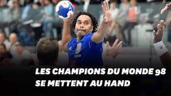 Les champions du monde 98 se mettent au handball et sont loin d'être