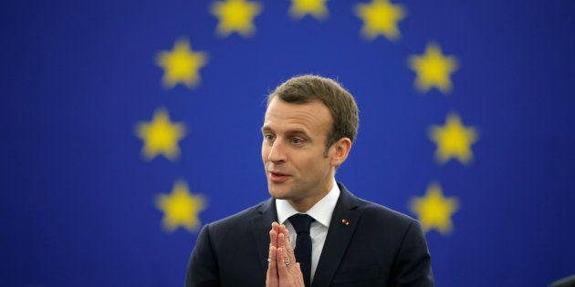Emmanuel Macron au parlement européen le 17