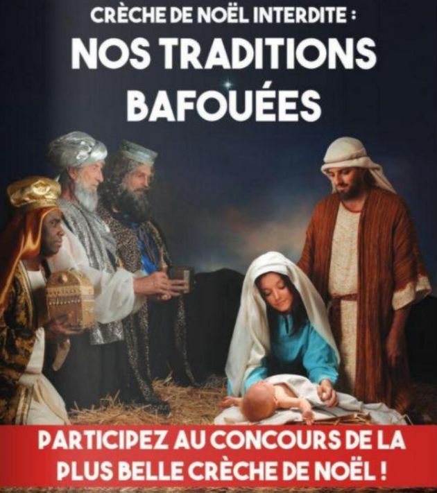 Crèche de Noël à Hénin-Beaumont: contre l'interdiction, Steeve Briois met Jésus en une du journal