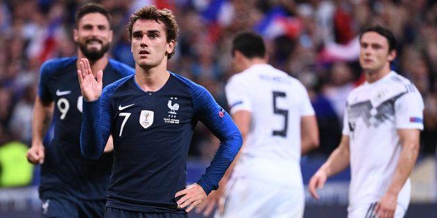 Antoine Griezmann (ici pendant sa célébration le 17 octobre au Stade de France) s'est encore inspiré...