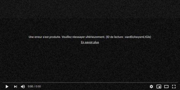 Youtube a connu une panne pendant plus d'une heure. À la place de lire leurs vidéos, les utilisateurs...