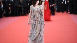 Isabelle Adjani en robe très printanière pour l'ouverture de