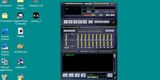 Le célèbre logiciel Winamp, sorti en 1997. Il devrait faire son retour en