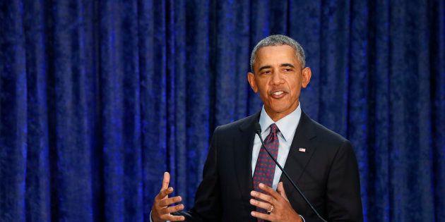Barack Obama à Washington le 12 février