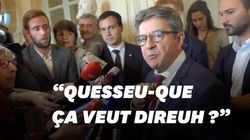 Agacé par une question, Mélenchon se moque de l'accent du Sud d'une