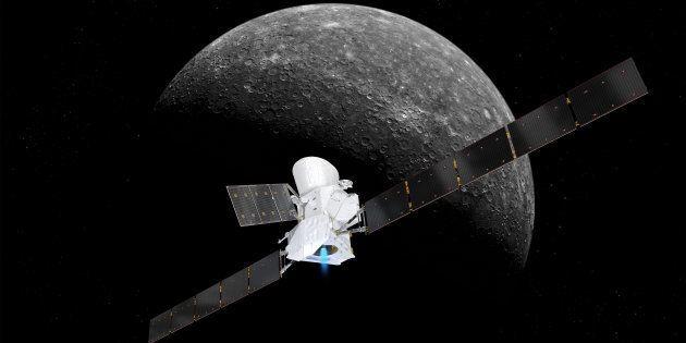 La sonde BepiColombo devrait arriver autour de Mercure en 2026 (photo: vue