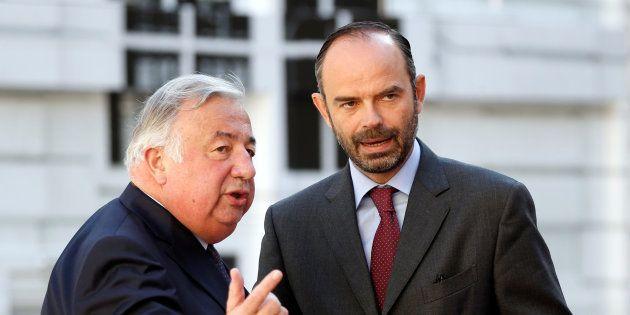 Le président du Sénat Gérard Larcher et le premier ministre Edouard