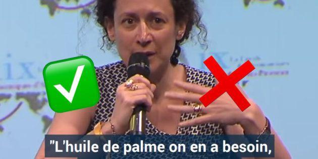 Emmanuelle Wargon sur l'huile de palme dans les laits