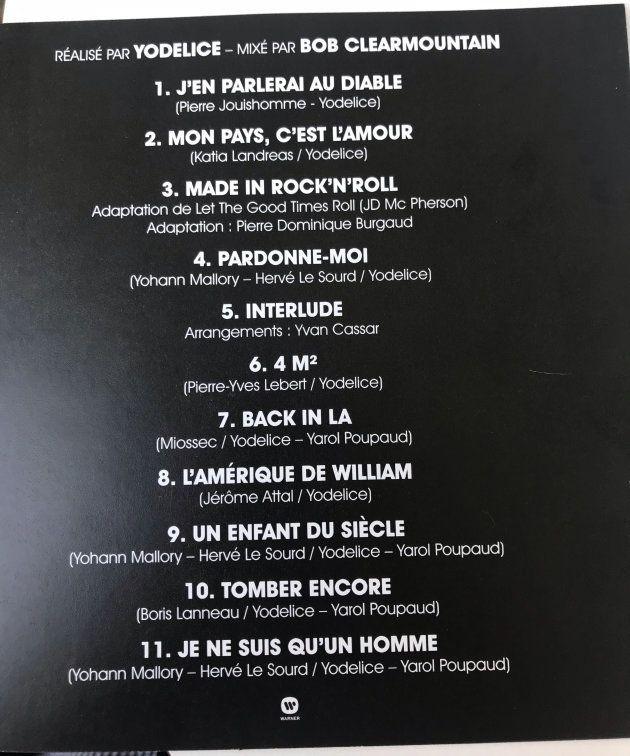Les onze titres de l'album posthume de Johnny