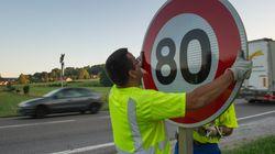Limitation de vitesse à 80 km/h: près de 400.000 km seraient concernés, plusieurs pétitions en
