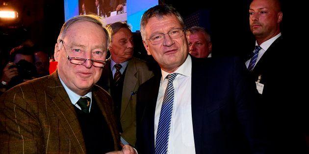Jörg Meuthen et Alexander Gauland, le duo à la tête du parti d'extrême droite