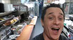 Ivre à 3h du matin, il rentre dans un fast-food et se cuisine un