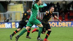 Un but de son gardien à la 95e minute et cette équipe italienne marque le 1er point de sa