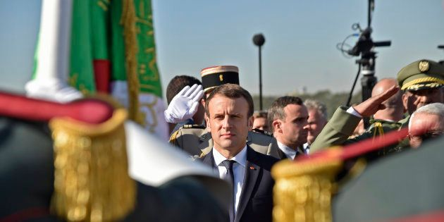 Le Président Emmanuel Macron en visite officielle à Alger, en décembre