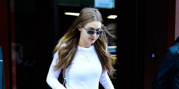 Gigi Hadid à New York le 18 octobre