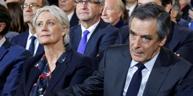Francois et Penelope Fillon en meeting à Paris en janvier
