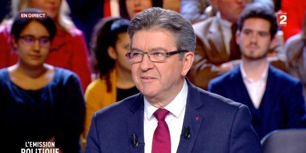 Jean-Luc Mélenchon sur le plateau