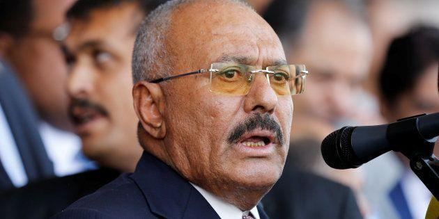 L'ancien président du Yémen Ali Abdallah Saleh à Sanaa, le 24