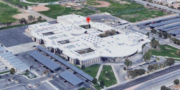 Le lycée Highland High School de Palmdale en