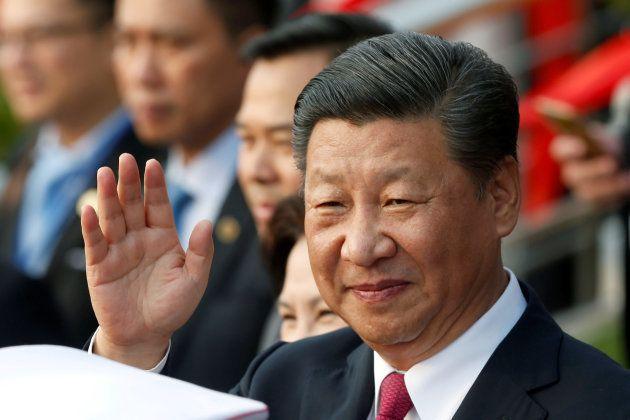 Le président chinois Xi Jinping à Hanoi, au Vietnam, le 12