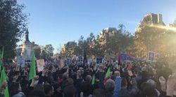 Ces poings levés durant le rassemblement à Paris sont autant de victimes de