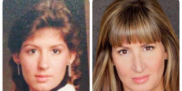 Deux photos de Donna, l'une datant de 1987 (à gauche), l'autre d'aujourd'hui.
