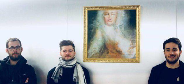 Les membres d'Obvious, le collectif français derrière le premier tableau produit par une intelligence...