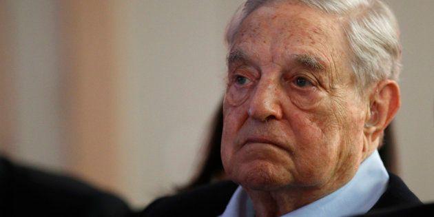 George Soros, ici en mai à Paris, n'était pas à son domicile lorsqu'un engin explosif a été découvert...