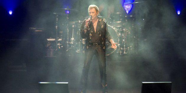 Johnny Hallyday en concert à Noumea (Nouvelle-Calédonie) le 29 avril