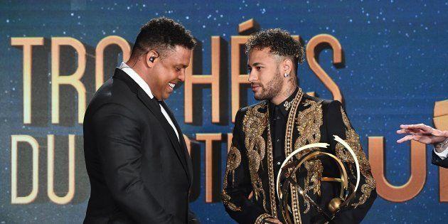 Ronaldo et Neymar lors de la cérémonie des Trophées UNFP le 13 mai