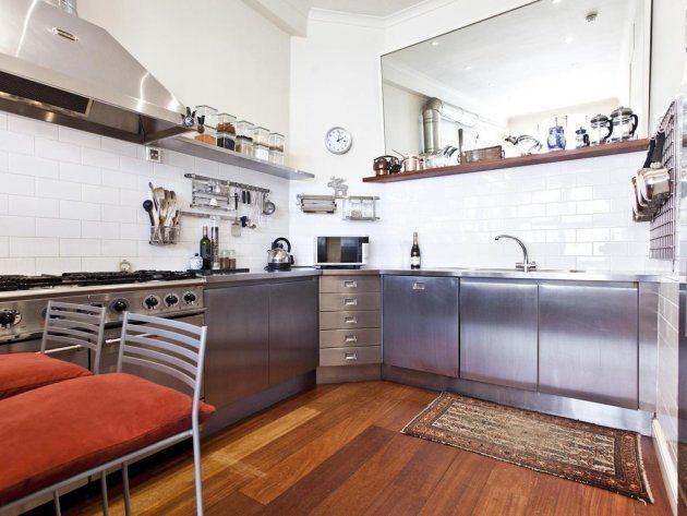 La cuisine de l'ancien appartement de Madonna et Guy Ritchue à