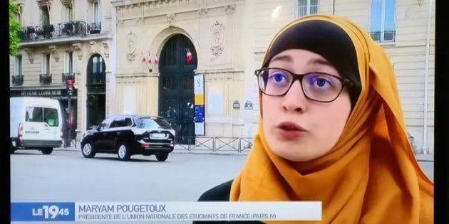 Pour être apparue à la télévision avec son voile, Maryam Pougetoux a été prise pour cible par des défenseurs...