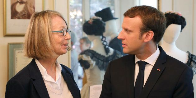 La ministre de la Culture Françoise Nyssen et le président de la République Emmanuel