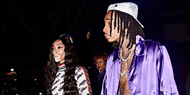 Winnie Harlow et Wiz Khalifa à la sortie du Staples Center de Los Angeles, le 20 octobre