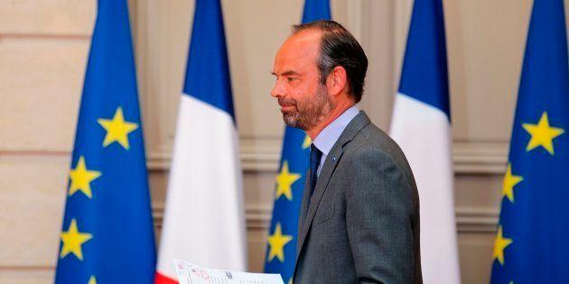 Edouard Philippe à l'Elysée le 9 mai