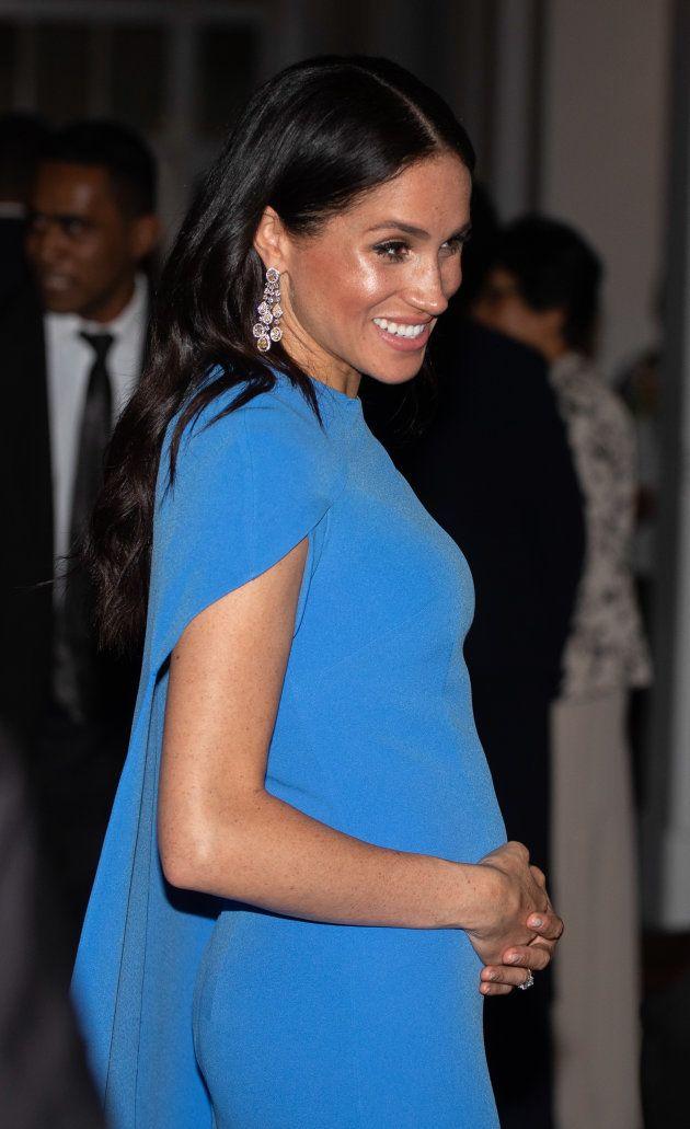 La Duchesse de Sussex à un dîner d'État aux Fidji, tenu le 23