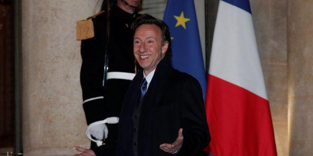 Stéphane Bern, animateur devenu le défenseur du Patrimoine français, à l'Elysée pour un dîner le 19 mars