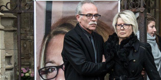 Les parents d'Alexia Daval à Gray le 8 novembre