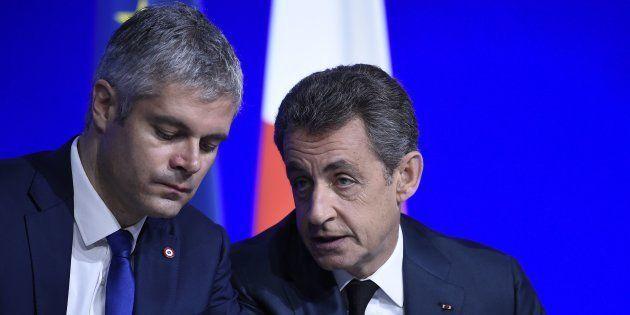 Laurent Wauquiez et Nicolas Sarkozy en
