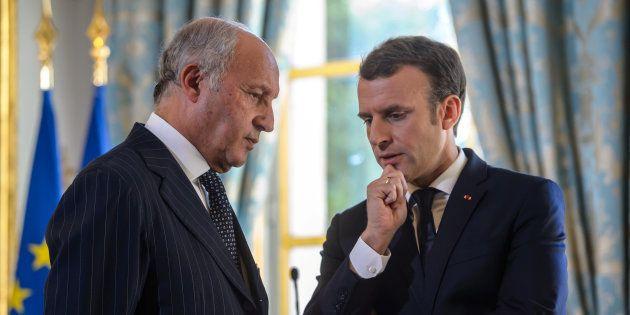 Emmanuel Macron et le président du Conseil constitutionnel Laurent