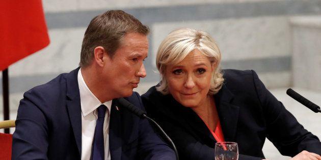 Marine Le Pen et Nicolas Dupont-Aignan dans l'entre-deux tours de la