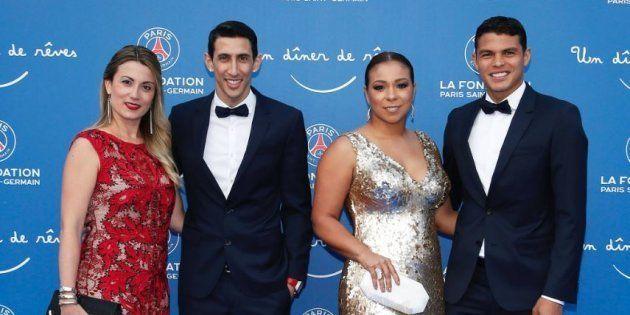 Les joueurs du PSG et leurs femmes sur leur 31 au Gala de la