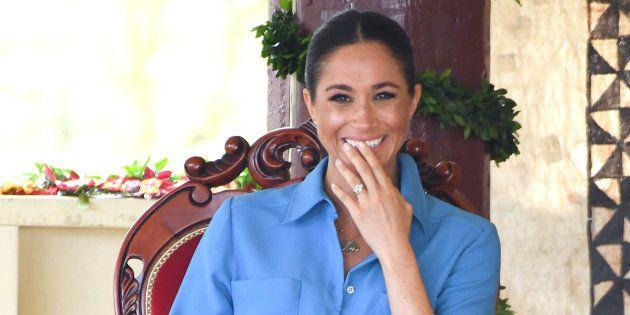Meghan Markle en visite dans les îles Tonga, le 26 octobre